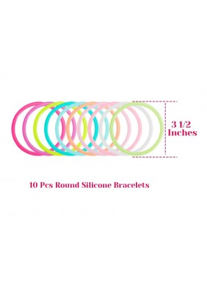 80s colorful round silicone bracelets lx3019