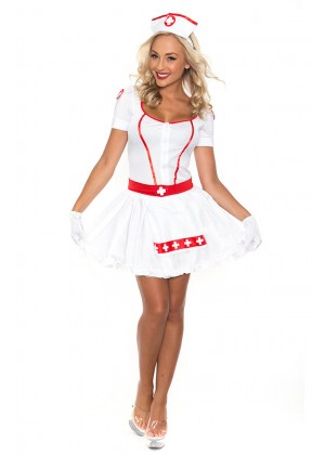 Nurse Costumes - Ladies Nurse Uniform Doctor Medical Fancy Dress Up Hens Party Costume Outfit
