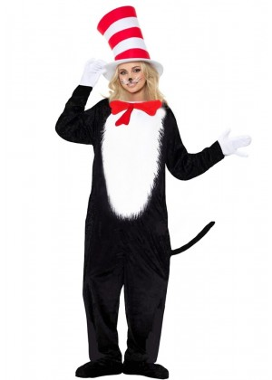 LADIES CAT IN THE HAT JUMPSUIT pp1002