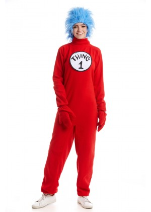 Adult Dr Seuss Thing 1 Thing 2 Jumpsuit pp1007