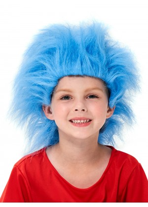Kids Dr Seuss Cat In The Hat Blue Wig pp1014