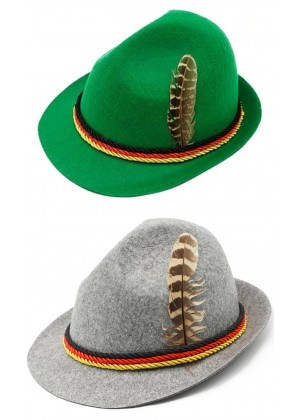 Oktoberfest Feather Hat th018