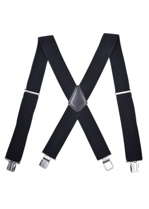 1920s Mens Womens Unisex Suspenders Braces Elastic Adjustable Clip on 50 mm Width