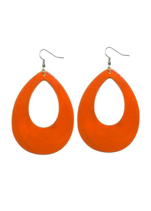 Orange Teardrop 80s Neon Earrings tt1045-7