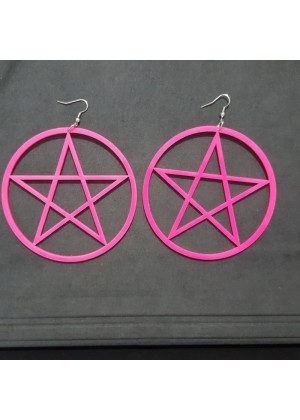 Earrings Neon 80s 1980s 90s Retro Rock Star Jewellery Ladies Womens Fancy Dress Costume Accessory