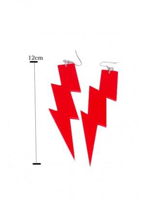 red 80s Earrings tt1064-5