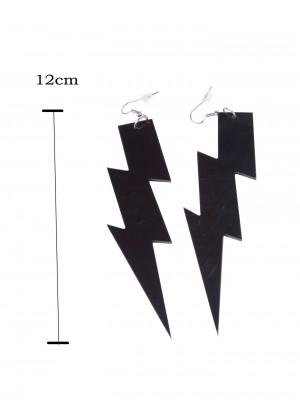 Black 80s Earrings tt1064-6