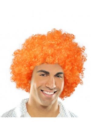 Orange Funky Afro Wig