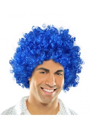 Blue Funky Afro Wig