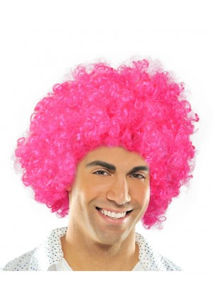 Hot Pink Funky Afro Wig