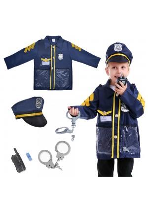 Children Police Force Costume tt1145