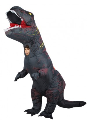 Grey Kids T-Rex Blow up Dinosaur Inflatable Costume 2001nkidgrey