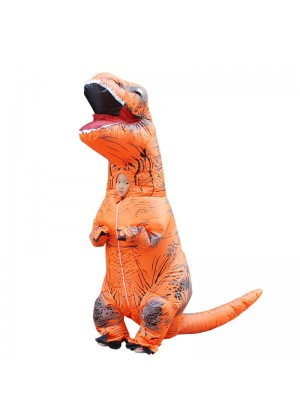 Orange Kids T-Rex Dinosaur Inflatable Costume tt2001nkidorange