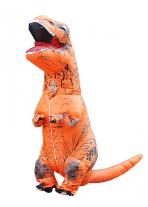 Orange Kids T-Rex Blow up Inflatable Costume tt2001nkidorange-1