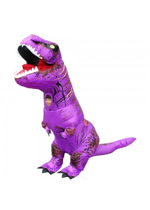 Purple Kids T-Rex Blow up Dinosaur Inflatable Costume 2001nkidpurple