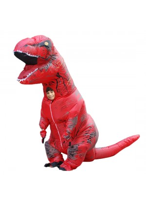 Red Kids T-Rex Blow up Dinosaur Inflatable Costume 2001nkidred