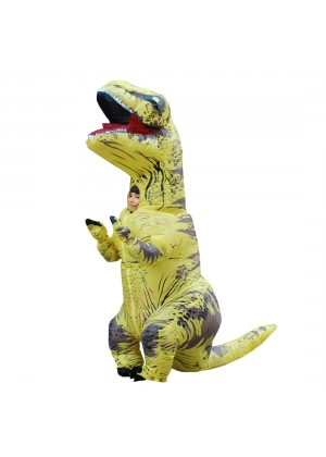 Yellow Kids T-Rex Blow up Dinosaur Inflatable Costume tt2001nkidyellow