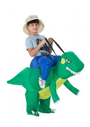Child Dinosaur t-rex carry me inflatable costume 2017-2