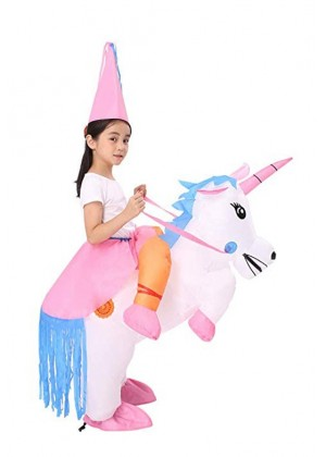 Kids Unicorn carry me inflatable costume 2018-2