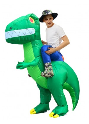 Adult Dinosaur carry me inflatable costume
