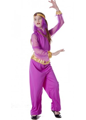 Girls Arabian Genie Aladdin Arab Jasmine Princess Costume Belly Dancer Childrens Kids Book Week Fancy Dress Costume