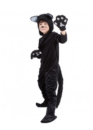 Black Cat Book Week Animal Jumpsuit Boys Girls Kids Costume