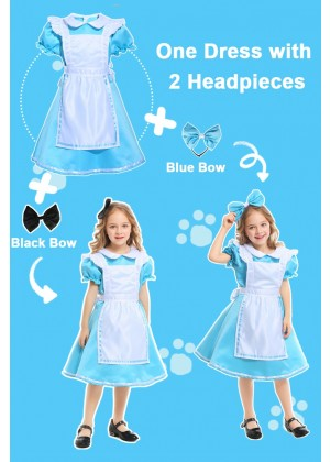 Alice in Wonderland Girls Costume Book Week Dress Kids