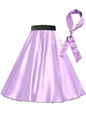 Light Purple Satin 1950's skirt