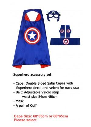 Captain America Cape & Mask Costume set Superhero