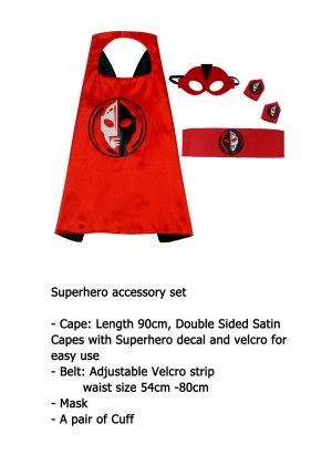 Ultraman Cape & Mask Costume set Superhero