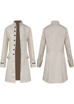 White STEAMPUNK TAILCOAT JACKET tt3102white