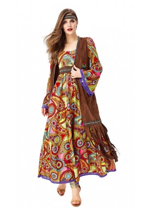 Ladies 70s Hippie Groovy Costume