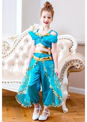 Kids Aladdin Jasmine Costume tt3131