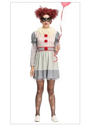 Ladies Pennywise IT Clown Costume tt3147