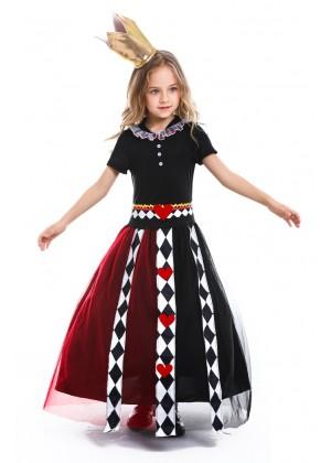 Kids Alice in Wonderland Queen of Hearts Costume tt3152