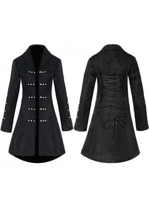 Ladies Black Vintage Tailcoat tt3183