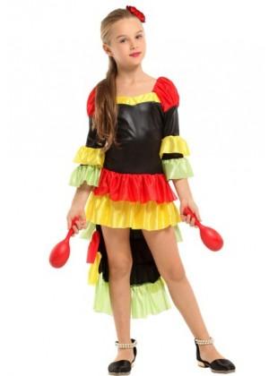Girls Spanish Senorita Flamenco Costume tt3191