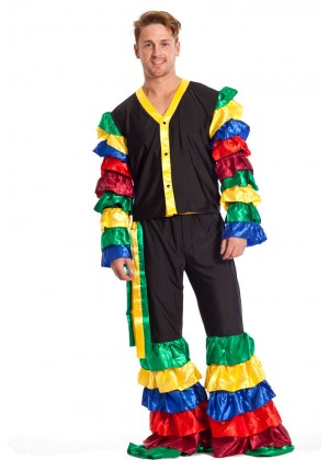 Mens LATIN Rumba COSTUME Salsa MARDI GRAS Flamenco Dancer