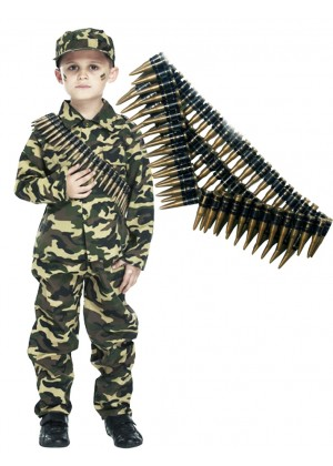 Kids Army Military Costume vb4011