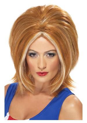 Spice Girls Ginger Girl Bob Power Womens Wig Blonde 90s Pop Star Fancy Dress Costume Accessory