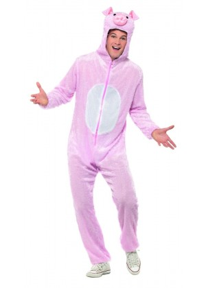 Unisex Pig Animal Onesie Adult Kigurumi Cosplay Costume Pyjamas Pajamas Sleepwear