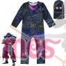 Kid Halloween Fortnite Costume Raven Cosplay Jumpsuit