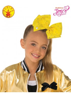 Yellow JoJo Siwa Large Teal 8inch Bow with Rhinestones & Pin Child Girls Fashion Hair Accessories Licensed