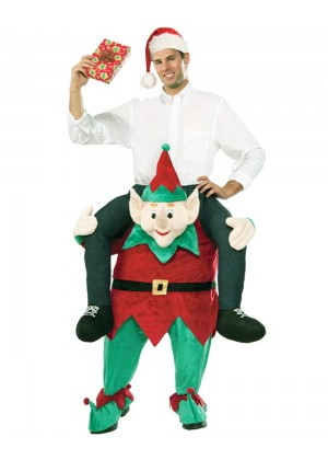 Shoulder Carry Me Piggy Back Ride On Costumes Elf