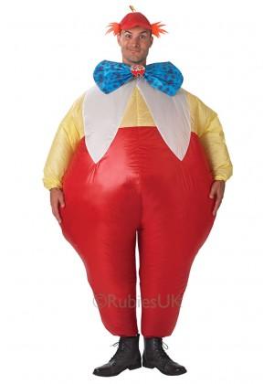 Licensed Tweedle Dee & Tweedle Dum Mens Costume Alice in Wonderland Inflatable Adult Disney Outfit
