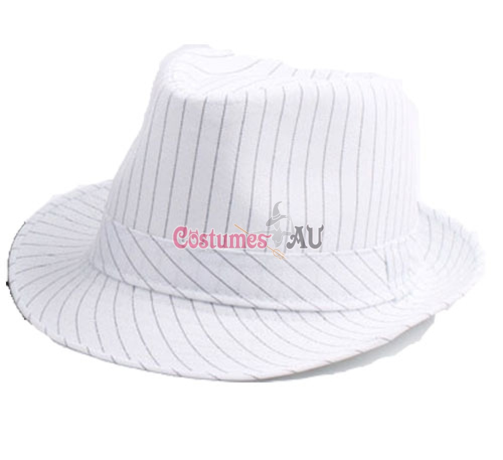 dcb96ff6418d6 More Views. White Adult 1920 s 20s Gangster Hat Trilby Al Capone Gatsby Fancy  Dress Costume Accessory