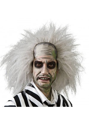 WIGS - Licensed Beetlejuice Wig Mens Adult Fancy Dress Halloween Crazy Costume Accessories
