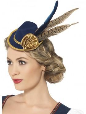 Adult Ladies Authentic Bavarian Oktoberfest Mini Hat Oktoberfest Smiffys Fancy Dress Accessories