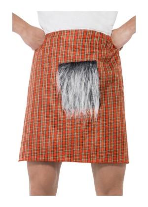 Tartan Kilt with Sporran Scottish Scot Scotland Fancy Dress Costume Accessory