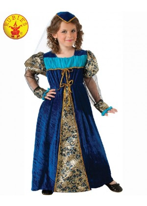 Girls Camelot Princess Kids Medieval Child Halloween Dress Party Outfit Costume